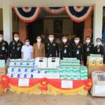 ## POLICE NEWS update PLUS ##      บริษัทไทยเบฟเวอเรจ  จำกัด มหาชน ละคุณนัยนา เทียนจู (ผู้จัดการขายเอเย่นต์ ศูนย์เพชรบุรี  ร่วมกับบริษัทมังกี้ อีที จำกัด โดย  คุณพัดชา รักตะกนิษฐ มอบอุปกรณ์การแพทย์ให้ 2 โรงพยาบาล